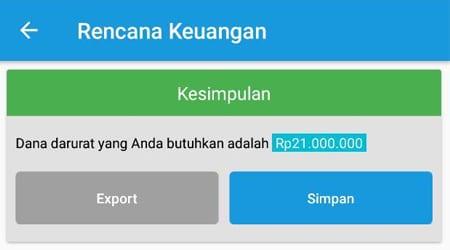 Rencana Keuangan Dana Darurat Single 2 Aplikasi Finansialku