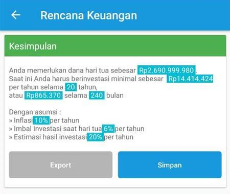 Rencana Keuangan Dana Hari Tua Aplikasi Finansialku 3