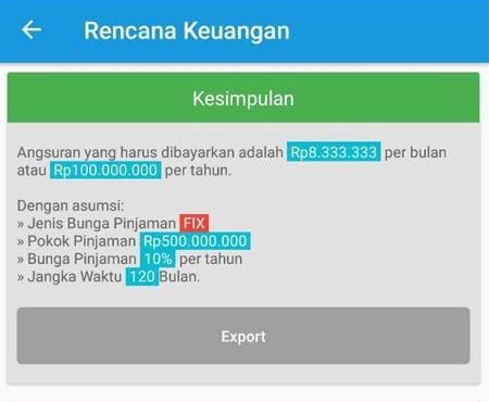 Rencana Keuangan Dana Pelunasan Utang Aplikasi Finansialku 5