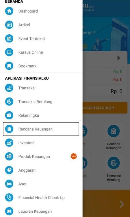 Rencana Keuangan Dana Pelunasan Utang Aplikasi Finansialku
