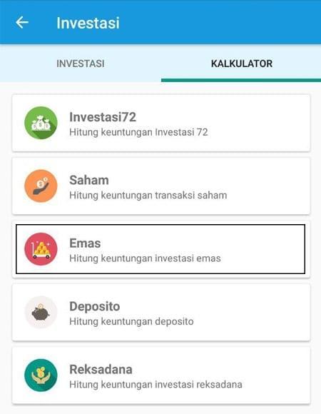 Simulasi Perhitungan Investasi Emas Aplikasi Finansialku