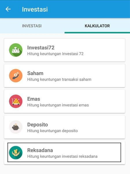 Simulasi Perhitungan Investasi Reksa Dana Aplikasi Finansialku 1