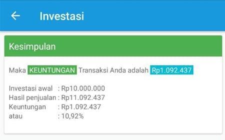 Simulasi Perhitungan Investasi Reksa Dana Aplikasi Finansialku 3