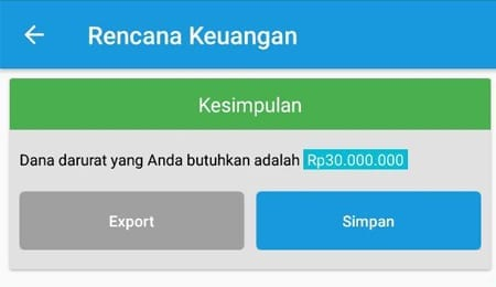 Dana Darurat Single Aplikasi Finansialku 2