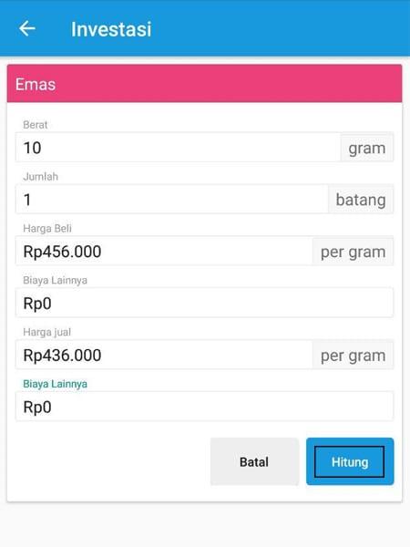 Investasi Kalkulator Emas Aplikasi Finansialku 1