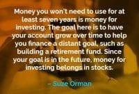 Kata-kata Motivasi Suze Orman Uang Untuk Berinvestasi - Finansialku