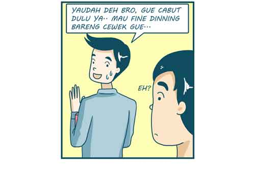 Komik Jomblo vs Pacaran, Mana Yang Lebih Jago Mengatur Keuangan 04 - Finansialku