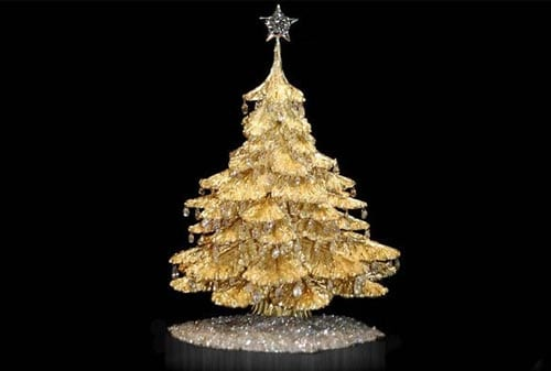 Pohon Natal 04 (Steve Quick Jewelers Gold Tabletop Tree) - Finansialku