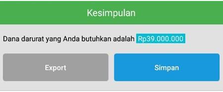 Rencana Keuangan Dana Darurat Single Aplikasi Finansialku 2