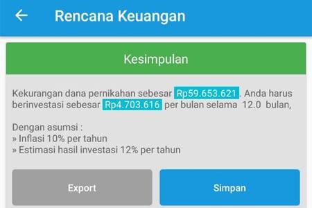 Rencana Keuangan Dana Pernikahan Aplikasi Finansialku 2