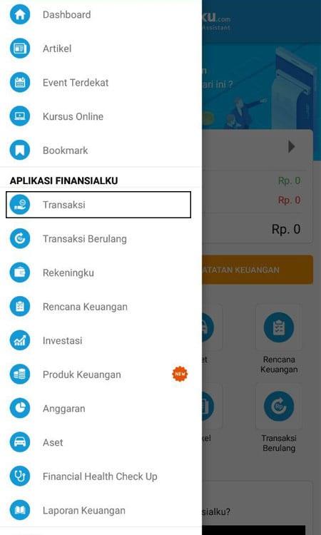Transaksi Aplikasi Finansialku