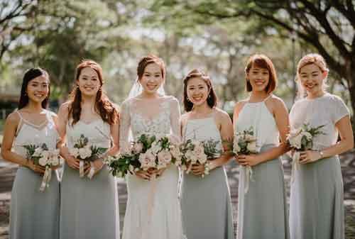 Cara Mengurangi Biaya Rias Pengantin Namun Tetap Cantik dan Menawan 03 Bridesmaid - Finansialku