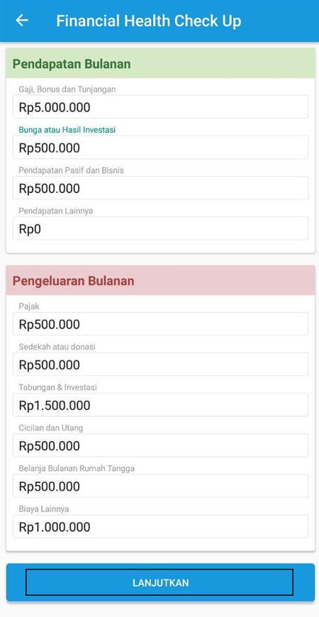 Financial Health Check Up Aplikasi Finansialku 1