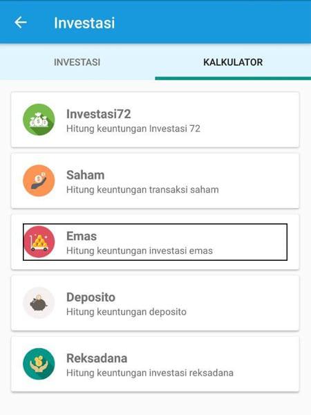Investasi Emas Kalkulator Aplikasi Finansialku 1