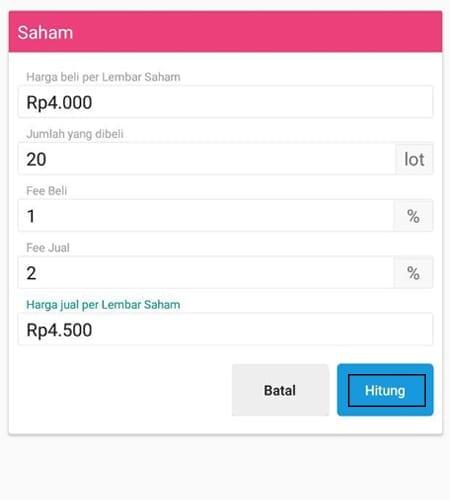 Investasi Kalkulator Aplikasi Finansialku 2