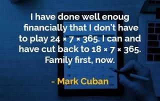 Kata-kata Bijak Mark Cuban Saya Telah Melakukan Cukup Baik - Finansialku
