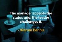 Kata-kata Bijak Warren Bennis Status Quo - Finansialku