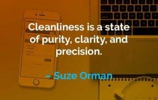 Kata-kata Motivasi Suze Orman Kebersihan Adalah - Finansialku