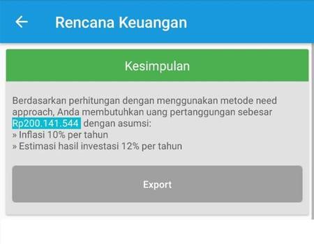 Rencana Keuangan Dana Pertanggungan Asuransi Jiwa Aplikasi Finansialku 4