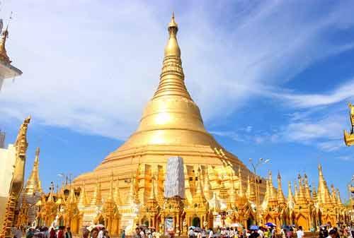 Tempat Wisata Myanmar 06 (Shwedagon Pagoda) - Finansialku