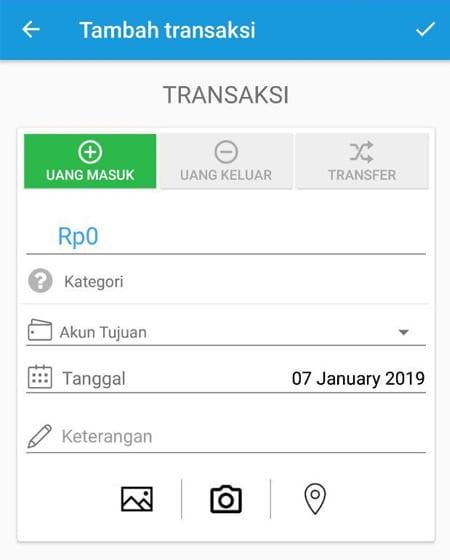 Transaksi Catat Keuangan Aplikasi Finansialku 4