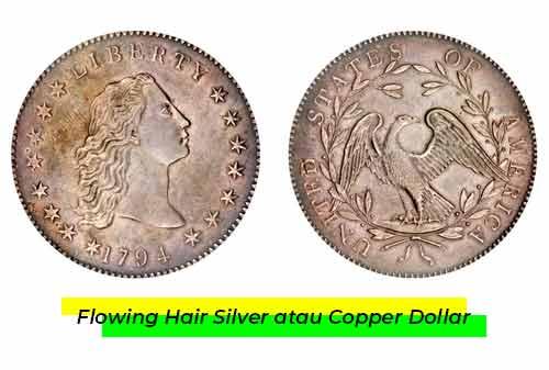 Uang Kuno Termahal 03 (Flowing Hair Silver atau Copper Dollar) - Finansialku