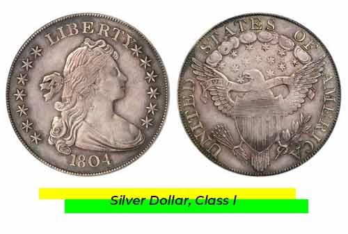 Uang Kuno Termahal 09 (Silver Dollar, Class l) - Finansialku