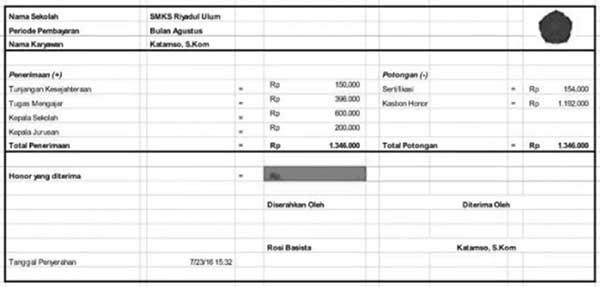 10+ Contoh Slip Gaji Karyawan Perusahaan 08 Slip Gaji Guru - Finansialku