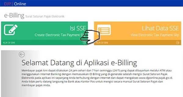 Bayar Pajak Online Melalui E-Billing Ternyata Mudah! 05 Isi SSE - Finansialku