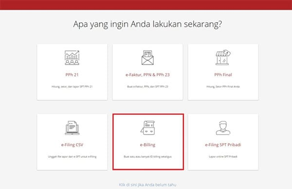 Bayar Pajak Online Melalui E-Billing Ternyata Mudah! 09 Menu E-billing - Finansialku