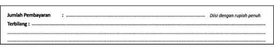 Jumlah Pembayaran dan Terbilang (Contoh Surat Setoran Pajak) - Finansialku