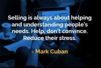 Kata-kata Bijak Mark Cuban Menjual Adalah - Finansialku
