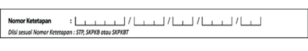 Nomor Ketetapan (Contoh Surat Setoran Pajak) - Finansialku