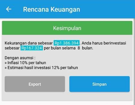 Rencana Keuangan Dana Membeli Barang Aplikasi Finansialku 3
