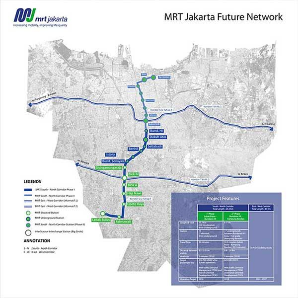 Gratis! MRT Tahap I Menjadi Pemikat Warga Jakarta 03 - Rute-MRT