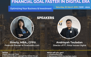 How To Reach Your Financial Goals in Digital Era Jakarta 2019