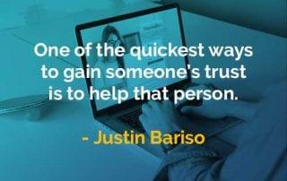 Kata-kata Bijak Justin Bariso Mendapatkan Kepercayaan Seseorang - Finansialku