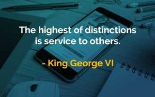Kata-kata Bijak King George VI Melayani Orang Lain - Finansialku