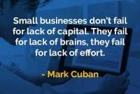 Kata-kata Bijak Mark Cuban Usaha Kecil Tidak Gagal Karena - Finansialku