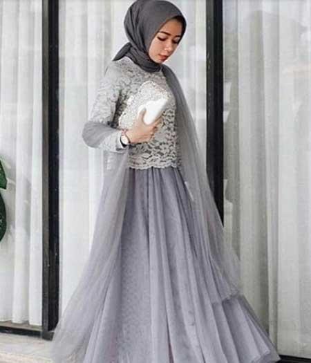 Tampil Trendy Dengan Baju Gamis Terbaru Tahun Ini 06 Gamis Bahan Brokat - Finansialku