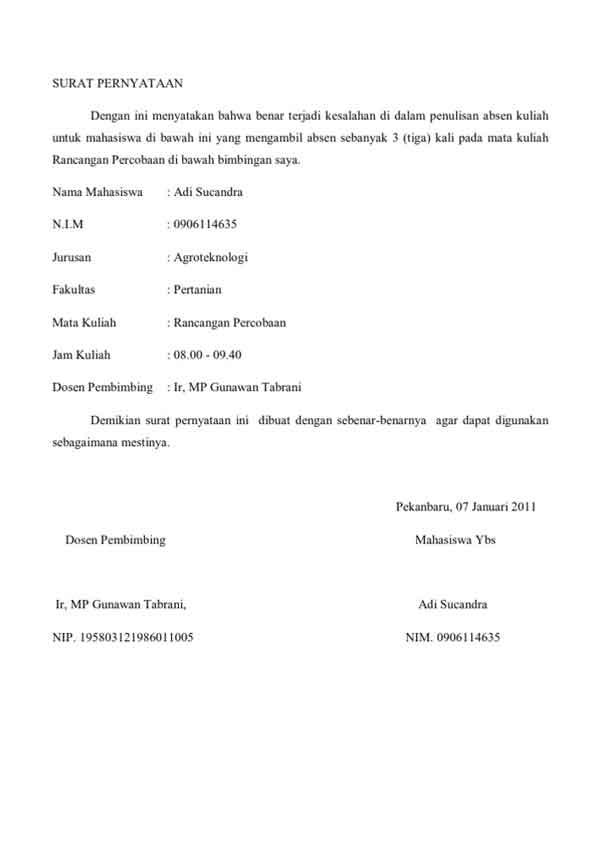 7 Contoh Surat Pernyataan Dan Cara Mudah Membuatnya