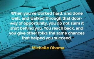 Kata-kata Bijak Michelle Obama Ketika Anda Sudah Bekerja Keras - Finansialku