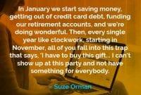 Kata-kata Motivasi Suze Orman Bulan Januari Kita Mulai Menabung - Finansialku