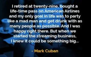 Kata-kata Bijak Mark Cuban Pensiun Usia Dua Puluh Sembilan - Finansialku