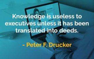 Kata-kata Bijak Peter Drucker Pengetahuan Tidak Berguna - Finansialku