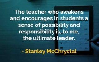 Kata-kata Bijak Stanley McChrystal Guru yang Membangkitkan Siswa - Finansialku