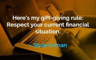 Kata-kata Motivasi Suze Orman Aturan Memberikan Hadiah - Finansialku
