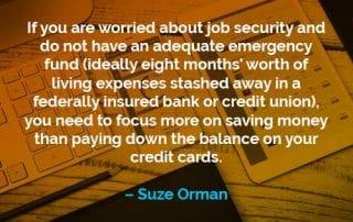 Kata-kata Motivasi Suze Orman Khawatir Tentang Keamanan Kerja - Finansialku