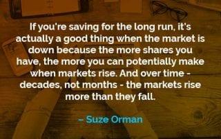 Kata-kata Motivasi Suze Orman Menabung Untuk Jangka Panjang - Finansialku