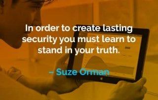 Kata-kata Motivasi Suze Orman Menciptakan Keamanan yang Langgeng - Finansialku